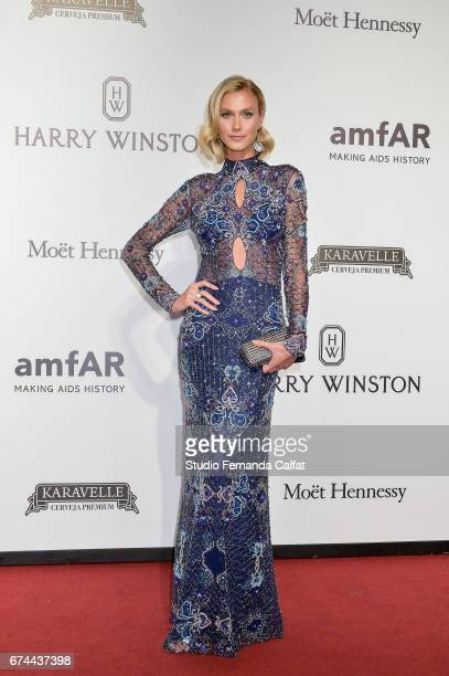 Renata Kuerten attends the 7th Annual amfAR Inspiration Gala on April 27 2017 in Sao Paulo Brazil