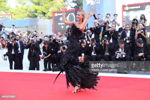 Renata Kuerten walks the red carpet ahead of the 'Downsizing' screening and Opening Ceremony during the 74th Venice Film Festival at Sala Grande on...