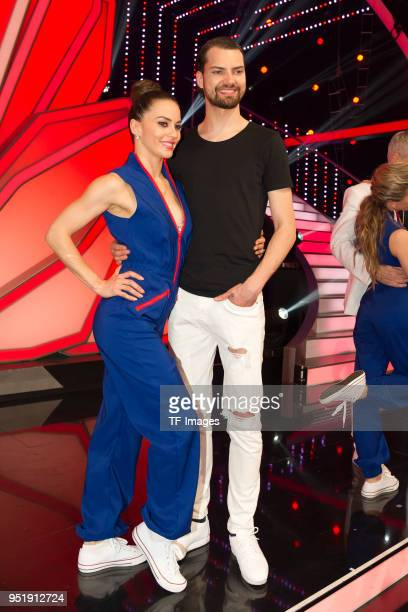 Renata Lusin and Jimi Blue Ochsenknecht attend the 4th Show of 'Let's Dance' on April 13 2018 in Cologne Germany n