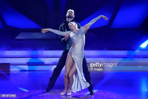 Renata Lusin and Jimi Blue Ochsenknecht dance during the 4th Show of 'Let's Dance' on April 13 2018 in Cologne Germany n