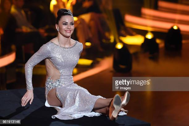 Renata Lusin attends the 4th Show of 'Let's Dance' on April 13 2018 in Cologne Germany n