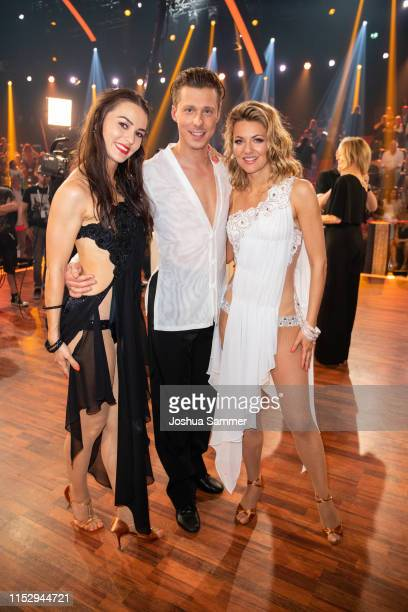 Renata Lusin Valentin Lusin and Ella Endlich are seen during the 10th show of the 12th season of the television competition Let's Dance on May 31...