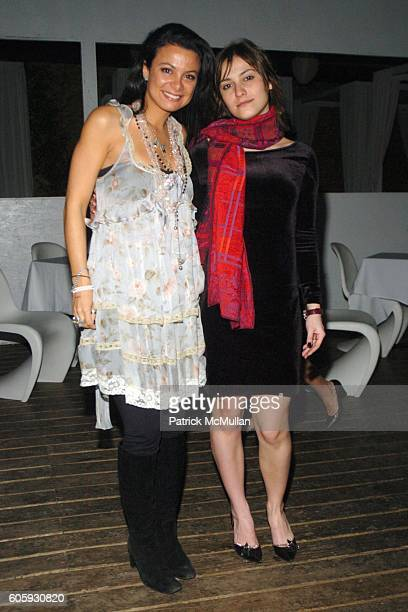 Renata Merriam and Laura Pratina attend INTERVIEW MAGAZINE afterparty for the NY Premiere of THE NOTORIOUS BETTIE PAGE at Bed on April 10 2006 in New...