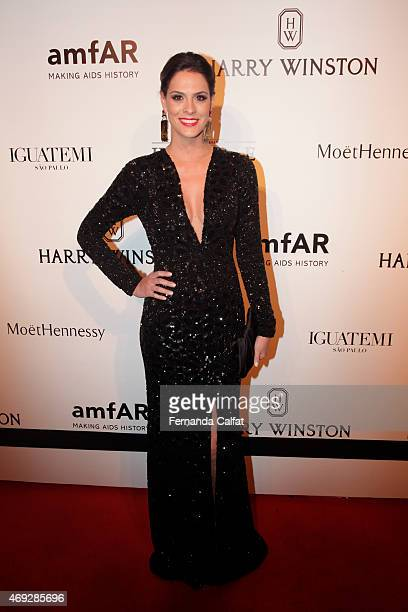 Renata Queiroz de Barros attends the 5th Annual amfAR Inspiration Gala at the home of Dinho Diniz on April 10 2015 in Sao Paulo Brazil