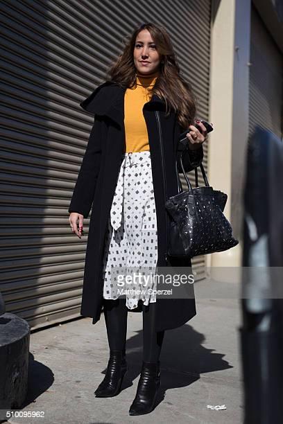 Renata Ribeiro is seen at Rebecca Minkoff during New York Fashion Week: Women's Fall/Winter 2016 on February 13, 2016 in New York City.