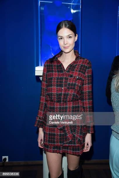 Renata Zanuda attends Galerie Gmurzynska Hosts Diana WidmaierPicasso in Celebration of Mene 24K and Yves Klein on December 27 2017 in St Moritz...