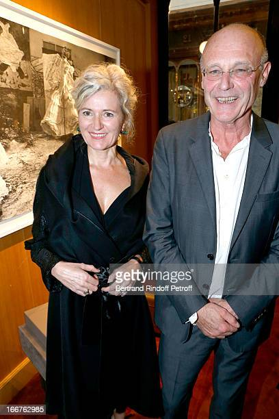 Renate Graf and her husband contemporary artist Anselm Kiefer attend 'Renate Graf Carnet De Voyage' Photographies Exhibition opening party held at...