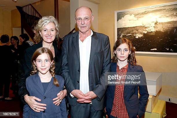 Renate Graf her husband contemporary artist Anselm Kiefer with their son Virgil and their Daughter Elektra attend 'Renate Graf Carnet De Voyage'...