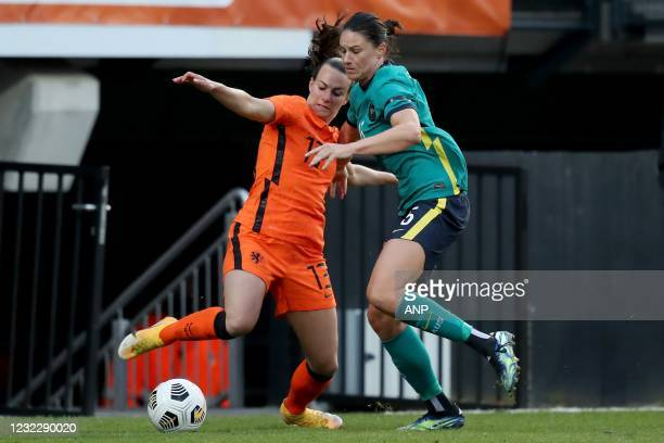 Renate Jansen of Holland, Emily Gielnik of Australia during the international women's friendly match between the Netherlands and Australia at the...