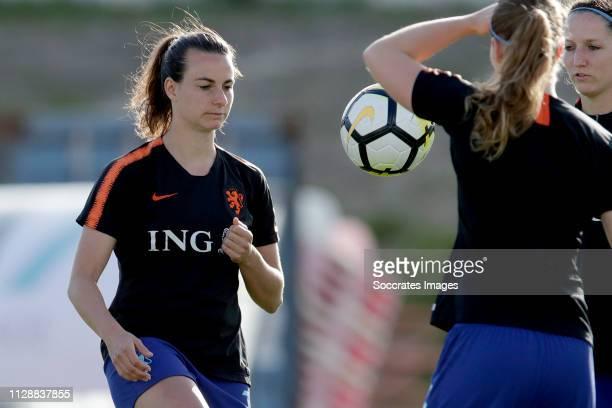 Renate Jansen of Holland Women during the Algarve Cup Women match between China PR v Holland at the Estadio Municipal de Albufeira on March 6, 2019...