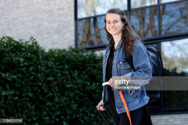 Renate Jansen of Holland Women during the Arrival Holland Women at the Campus at the KNVB Campus on April 1, 2019 in Zeist Netherlands