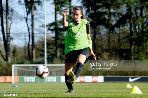 Renate Jansen of Holland Women during the Training Holland Women at the KNVB Campus on April 1, 2019 in Zeist Netherlands