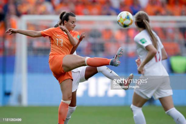 Renate Jansen of Holland Women during the World Cup Women match between Holland v Canada at the Stade Auguste-Delaune II on June 20, 2019 in Reims...