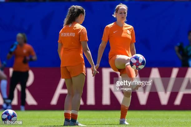 Renate Jansen of Netherlands women, Ellen Jansen of Netherlands women during the FIFA Women's World Cup France 2019 quater final match between Italy...