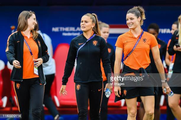 Renate Jansen of Netherlands women Lieke Martens of Netherlands women Dominique Bloodworth of Netherlands women explore stade Hainaut Valenciennes...
