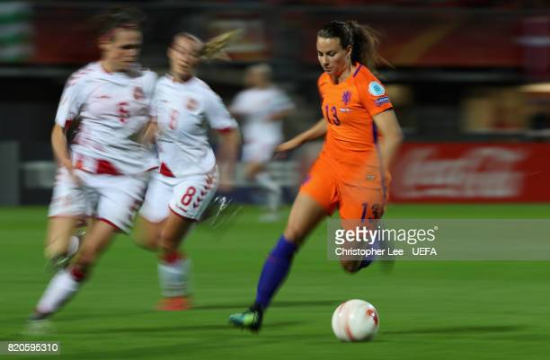 Renate Jansen of the Netherlands in action during the UEFA Women's Euro 2017 Group A match between Netherlands and Denmark at Sparta Stadion on July...