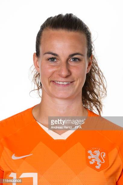 Renate Jansen of the Netherlands poses for a portrait during the official FIFA Women's World Cup 2019 portrait session at Hotel Novotel Le Havre...