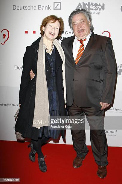 Renate Krößner And husband Bernd Stegemann at the Ceremony Of The 10th German hearing impaired film at the atrium of the Deutsche Bank in Berlin