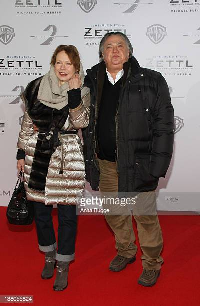 Renate Kroessner and Bernd Stegemann attend the 'Zettl Berlin Premiere' at the Cinestar movie theater on February 1 2012 in Berlin Germany
