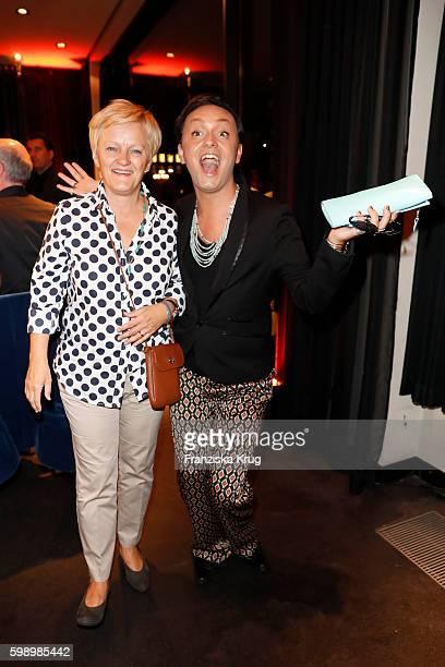 Renate Kuenast and Julian F M Stoeckel attend the True Berlin By Shan Rahimkhan event on September 1 2016 in Berlin Germany