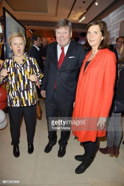 Renate Kuenast KarlUlrich Kuhlo and Katrin GoeringEckardt attend the 25 years anniversary ntv event at Bertelsmann Repraesentanz on November 28 2017...