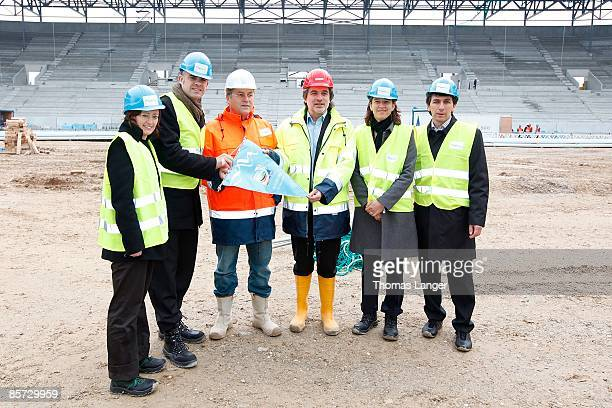 Renate Lingor organising committee cities Ulrich Wolter main coordinator of the Women's World Cup Rudolf Reisch Peter Grab Tatjana Haenni head of...