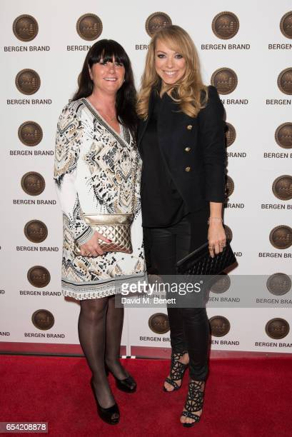 Renate Stormark and Liz McLarnon attend Bergen Brand Handbag Launch At Wolf Badger on March 16 2016 in London England