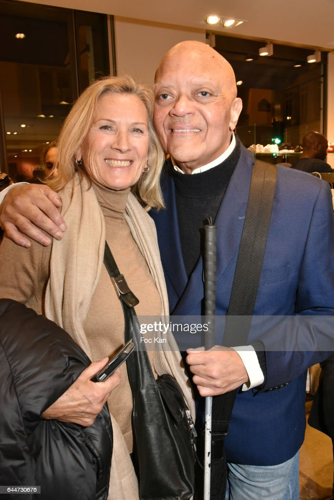 Renate Zasch and Guy Cuevas attend 'Facade16' Magazine Issue Launch at Colette on February 23, 2017 in Paris, France.