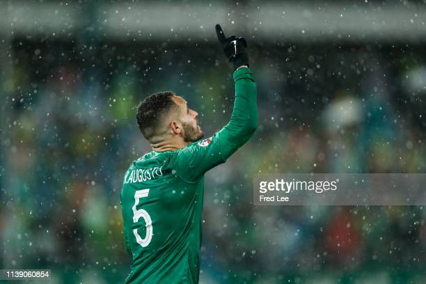 Renato Augusto of Beijing Guoan celebrates after scoring his team's goal during the AFC Champions League Group G match between Beijing Guoan and...