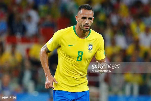 Renato Augusto of Brazil is seen during the 2018 FIFA World Cup Russia Group E match between Serbia and Brazil at the Spartak Stadium in Moscow...