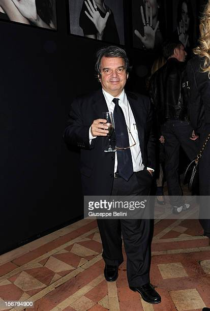 Renato Brunetta attend the Bulgari 'Stop Think Give' exhibition preview and cocktail at Palazzo Pecci Blunt on November 15 2012 in Rome Italy