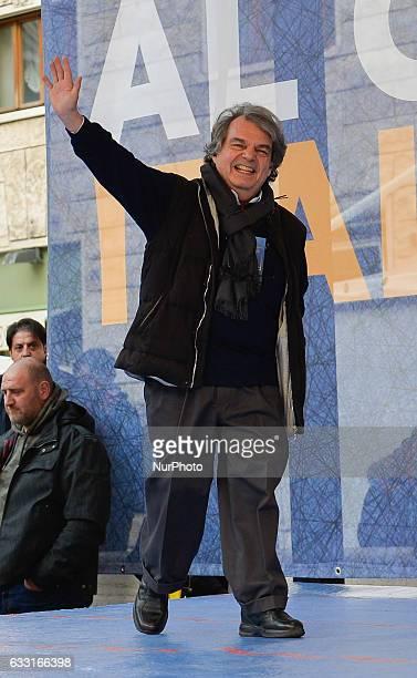 Renato Brunetta during Italian demonstration 'Italia sovrana' Rome on january 28 2017