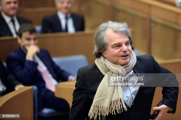 Renato Brunetta during the Presentation of the book 'The challenge of the digital economy' on November 20 2017 in Rome Italy