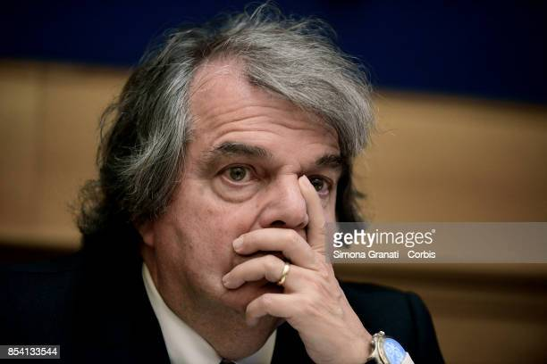 Renato Brunetta during the Press conference of Forza Italia party on the reform of the 'Good School' on September 26 2017 in Rome Italy