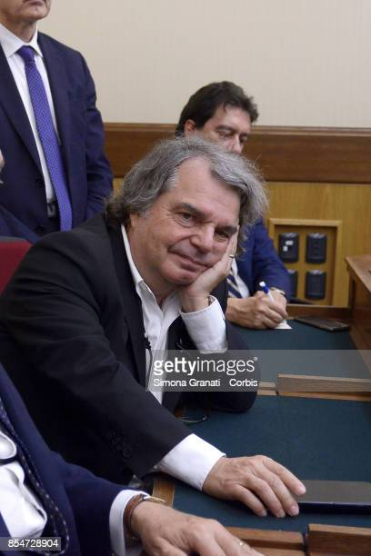 Renato Brunetta elected VicePresident of The Parliamentary Committee of Inquiry on the banking system on September 27 2017 in Rome Italy
