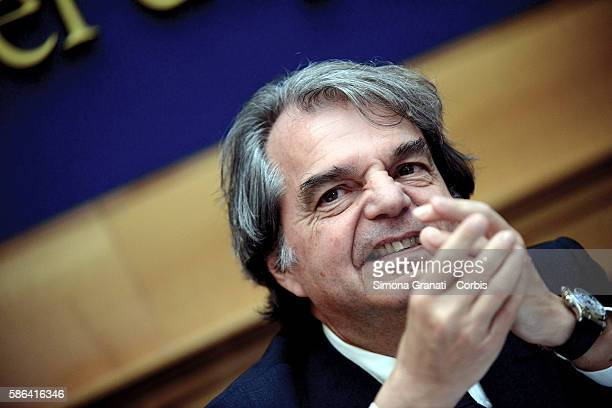 Renato Brunetta of Forza Italia during a press conference on the appointments of the directors of tg Rai and reform of the provinces on August 4 2016...