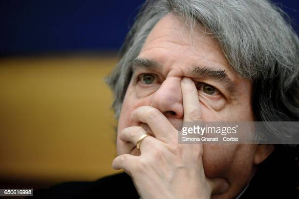Renato Brunettaparliamentarian of Forza Italiaduring the presentation of the proposal on Securityon March 09 2017 in Rome Italy