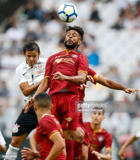 Renato Chaves of Fluminense in action during the match against Fluminense for the Brasileirao Series A 2018 at Arena Corinthians Stadium on April 15...