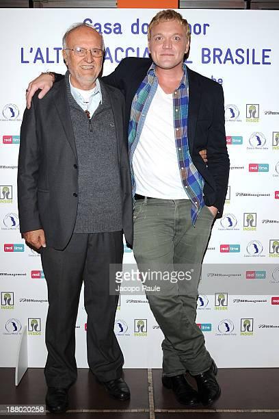 Renato Chiera and Davide Scalenghe attend 'Casa Do Menor L'altra Faccia Del Brasile' Milan Photocall on November 14 2013 in Milan Italy