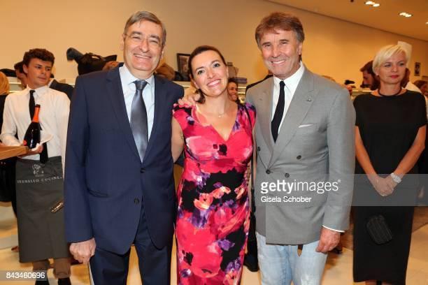 Renato Cianfarani Consul general of Italia and his wife and Fashion designer founder and president Brunello Cucinelli during the Brunello Cucinelli...