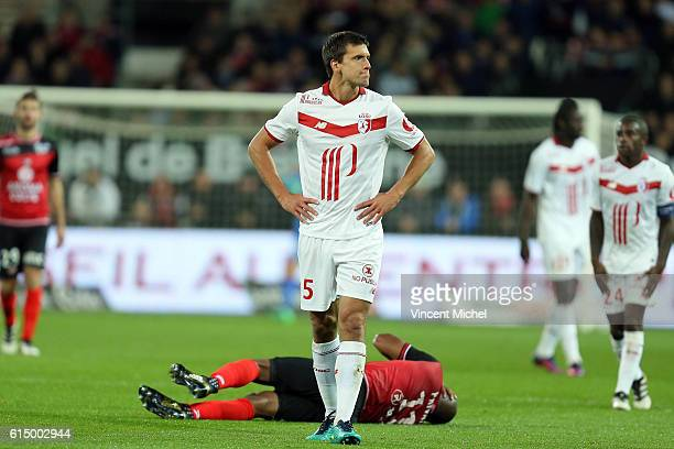 Renato Civelli of Lille during the Ligue 1 match between EA Guingamp and Lille OCS at Stade du Roudourou on October 15, 2016 in Guingamp, France.