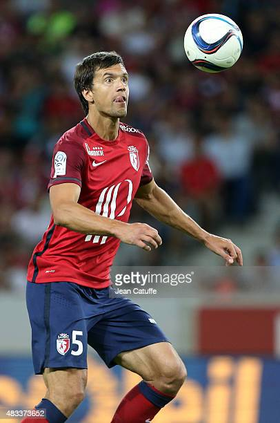 Renato Civelli of Lille in action during the French Ligue 1 match between Lille OSC and Paris SaintGermain at Grand Stade Pierre Mauroy on August 7...