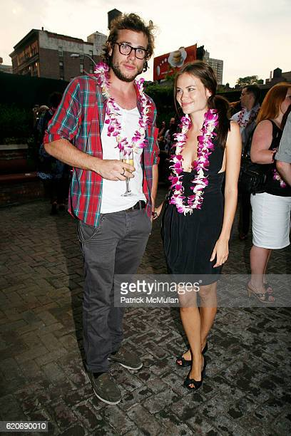 Renato D'Agostin and Kristina Ratliff attend JED ROOT Hawaiian Barbeque in Early Celebration of 20 Years at The Bowery Hotel on July 17 2008 in New...