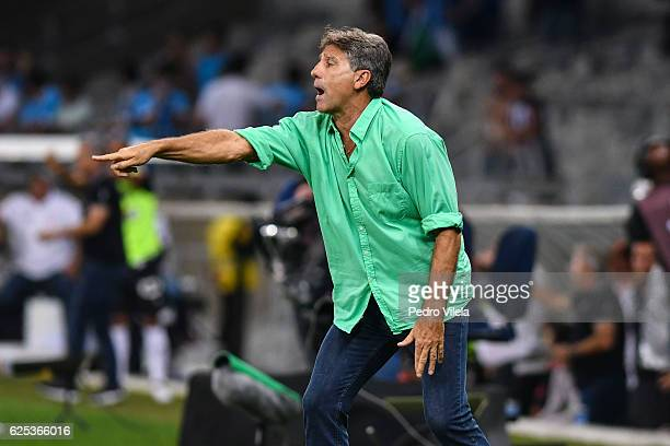 Renato Gacho coach of Gremio a match between Atletico MG and Gremio as part of Copa do Brasil Final 2016 at Mineirao stadium on November 23 2016 in...