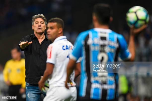 Renato Gaucho coach of Gremio a match between Cruzeiro and Gremio as part of Copa do Brasil SemiFinals 2017 at Mineirao stadium on August 23 2017 in...