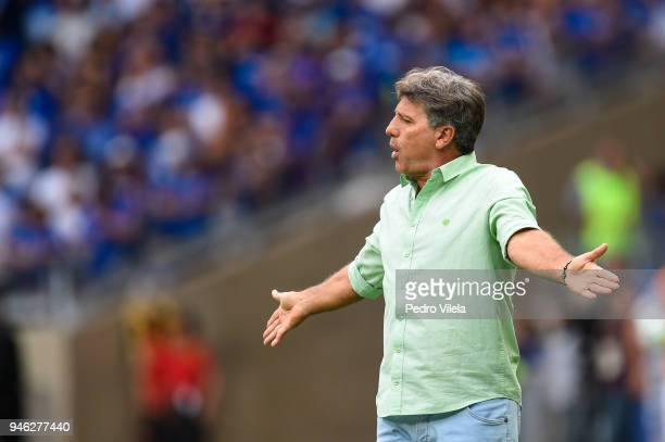 Renato Gaucho coach of Gremio a match between Cruzeiro and Gremio as part of Brasileirao Series A 2018 at Mineirao stadium on April 14 2018 in Belo...