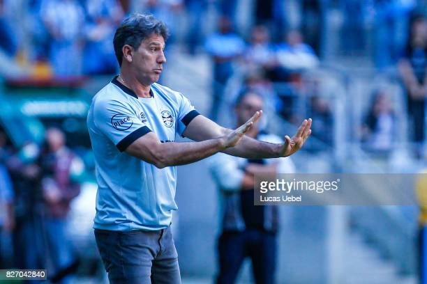 Renato Gaucho coach of Gremio during Gremio v AtleticoMG match part of Brasileirao Series A 2017 at Arena do Gremio on August 06 in Porto Alegre...