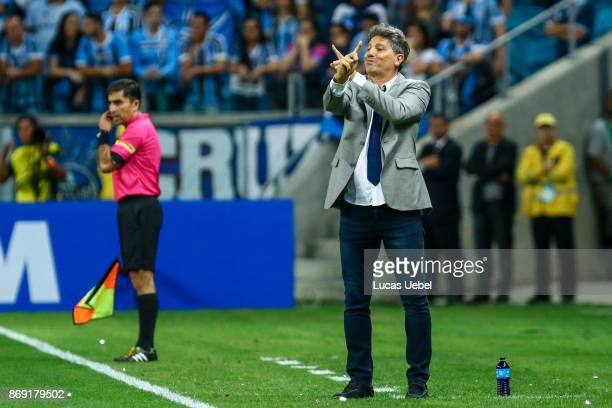 Renato Gaucho coach of Gremio during Gremio v Barcelona de Guayaquil match part of Copa Bridgestone Libertadores 2017 SemiFinals at Arena do Gremio...