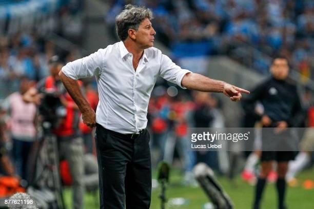 NOVEMBER 22 Renato Gaucho coach of Gremio during the match between Gremio and Lanus part of Copa Bridgestone Libertadores 2017 Final at Arena do...