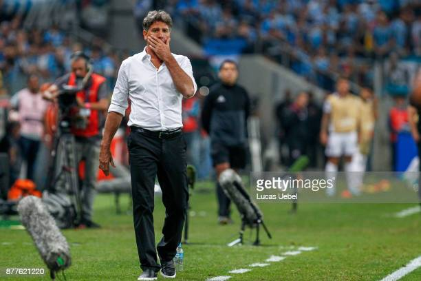 NOVEMBER 22 Renato Gaucho coach of Gremio during the match between Gremio and Lanus part of Copa Bridgestone Libertadores 2017 Final at Arena do...
